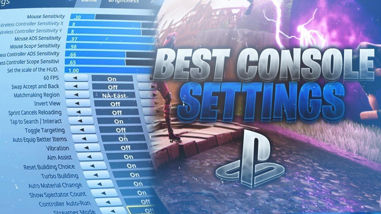 BEST SETTINGS FOR CONTROLLER!!! ~ FORTNITE BATTLE ROYALE